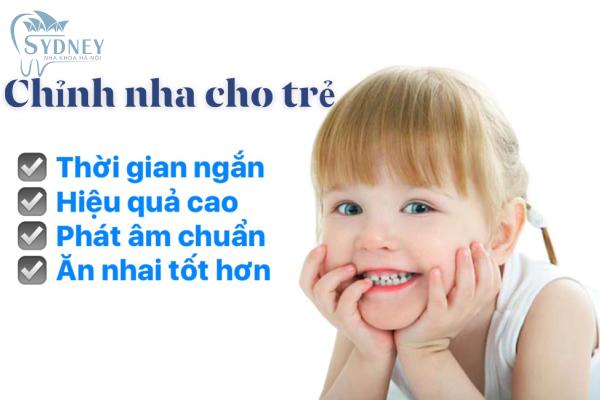 Nên niềng răng cho trẻ từ khi còn nhỏ